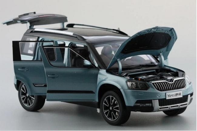 skoda yeti blue 1 18 die cast vehicle auto koda yeti modr. Black Bedroom Furniture Sets. Home Design Ideas
