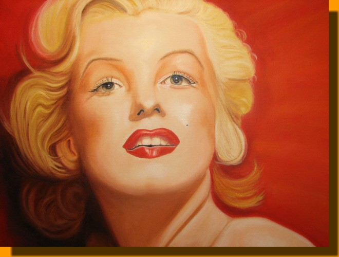 Marilyn face painting